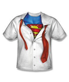 White  amp  Blue Superman Clark Kent Tee - Boys   844d8fda380