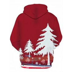 Christmas Tree 3D Print Pullover Hoodie - COLORMIX COLORMIX