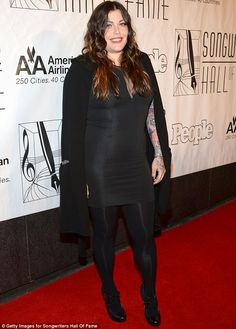 Daughterly love: Mia Tyler, 34, showed her support for her father, who was being inducted into the Hall of Fame