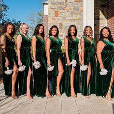 Emerald Green Bridesmaid Dresses, Velvet Bridesmaid Dresses, Emerald Green Weddings, Wedding Bridesmaids, Wedding Dresses, Emerald Green Wedding Dress, Romantic Bridesmaid Dresses, Fall Dresses, Evening Dresses
