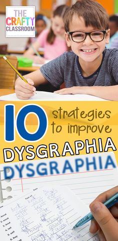 10 Strategies to Improve Dysgraphia. Do you have a child who struggles with handwriting? Have you looked into Dysgraphia? Learn more about this condition and discover 10 Strategies to Improve Dysgraphia with your student. Dyslexia Activities, Dyslexia Teaching, Handwriting Activities, Motor Skills Activities, Learning Disabilities, Learning Activities, Teaching Kids, Student Learning, Spanish Activities