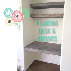 Working on a floating desk in a little nook of the new #guestroom :) #diy Happy Monday!