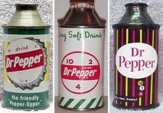 old dr pepper cans...