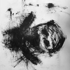 Black art painting