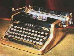 Ian Fleming's Gold-plated Royal Quiet Deluxe typewriter.  Commissioned in 1952.