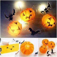 How to DIY Paper Origami Pumpkin Jack-o'-Lantern   www.FabArtDIY.com LIKE Us on Facebook ==> https://www.facebook.com/FabArtDIY