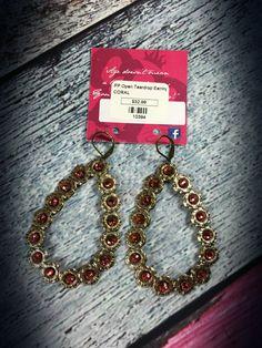 The Bling Box - Pink Panache Coral Swarovski Open Tear Drop Earrings, $32.99 (http://www.theblingboxonline.com/pink-panache-coral-swarovski-open-tear-drop-earrings/)