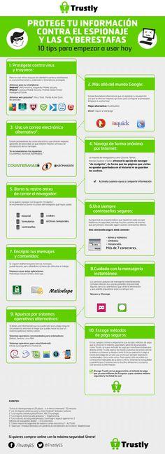 10 consejos para protegerte en Internet Vía: @Trustly #infografia #infographic