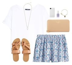 """""""boston"""" by classically-preppy ❤ liked on Polyvore featuring MANGO, H&M, KYMA, Kate Spade, Alex and Ani, Essie, Incase and Kendra Scott"""