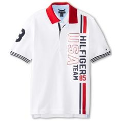 Tommy Hilfiger Kids - Brice Polo (Big Kids) (White) - Apparel - product - Product Review Polo Rugby Shirt, Mens Polo T Shirts, Boys Shirts, Sports Shirts, New T Shirt Design, Shirt Print Design, Shirt Designs, Camisa Polo Tommy, Tommy Hilfiger Kids