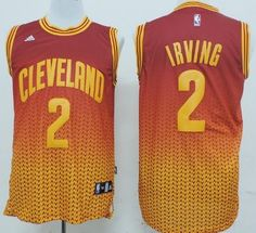 Cleveland Cavaliers  2 Kyrie Irving Red Yellow Resonate Fashion Jersey  Kyrie Irving 2 e3b7fbc2e