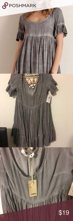 Grey mineral wash babydoll dress Never worn from perfectly posh grey babydoll dress size medium. Smoke free Dresses Mini