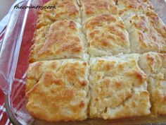 Butter Dip Biscuits {no rolling or cutting necessary!} tried this - these are fabulous! My guests begged for the recipe! They are buttery/crisp on the bottom & dense, yet fluffy in the center...heavenly!!