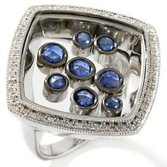 Rarities: Fine Jewelry with Carol Brodie 1.64ct Sapphire and Diamond Shaker Ring at HSN.com.