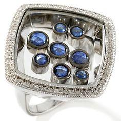 Rarities: Fine Jewelry with Carol Brodie 1.64ct Sapphire and Diamond Shaker Ring at HSN.com.