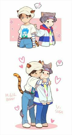 Read 02 from the story Hermanito [Taegi] by Xxsweet_vhopexX (☆I'm a damn demon☆) with reads. Bts Chibi, Theme Bts, Fanart Bts, Chibi Wallpaper, Hxh Characters, Disney Characters, Dibujos Cute, Bts Drawings, Bts Playlist