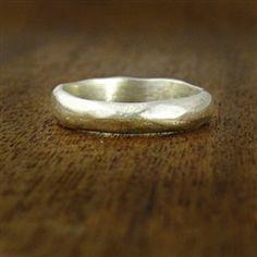 organic silver wedding ring // turtle love co.