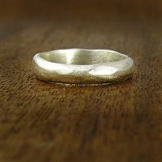 love this organic silver hammered ring