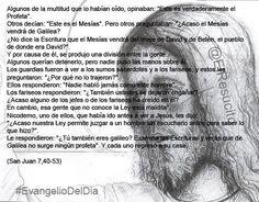 """#EvangelioDelDia ... """"Y por causa de él, se produjo una división entre la gente"""" ..."""