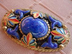 Art Deco Czech Egyptian Revival Brooch Max Neiger-VERY RARE DESIGN-Perfect..No 2   eBay