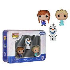 FIGURA POP FROZEN SET 3 MINI FIGURAS Frozen Set de figuras POP de 4cm. Este pack incluye versiones reducidas de los POP de Frozen: Anna, Elsa y Olaf. ADVERT
