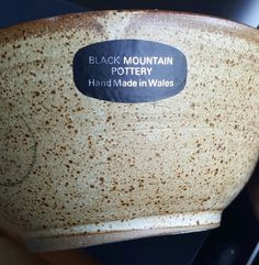 Pauline Paterson, Black Mountain Pottery, Wales - PP mark and label