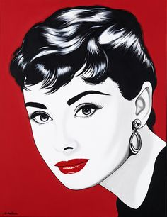 For Sale on - Audrey Sabrina, Acrylic Paint by Antonio de Felipe. Offered by Galleri GKM Siwert Bergstrom. Marilyn Monroe And Audrey Hepburn, Nostalgia, Pink Cow, Fine Arts Degree, Galleries In London, Celebrity Portraits, Arte Pop, Figure Painting, Maid Of Honor