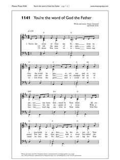 You'Re the Word of God the Father Editorial, Word Of God, Grande, Sheet Music, Father, Words, Socialism, World, Reading
