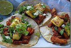 RECETA DE CARNE PARA TACOS AL PASTOR CASEROS COMO HACER SIN TROMPO | LA COCINA DE NORA (cocina mexicana)