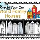 Use this cute template to create WORD FAMILY HOUSES.   Not only will students have a useful tool for practicing reading and spelling their word fam...