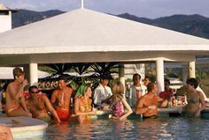The pool bar a la country club? photograph by Slim Aaron.