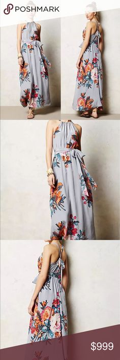 Preview 2017 Spring/ Summer Floral Maxi Dress Preview 2017 Spring/ Summer Floral Maxi Dress / Coming Soon! Beautiful Floral print Maxi dress / Tie Waist & Cross Tie Back / Spring Break / Easter / Wedding / Party / Special Occasion / Like this listing to be notified upon arrival Dresses Maxi