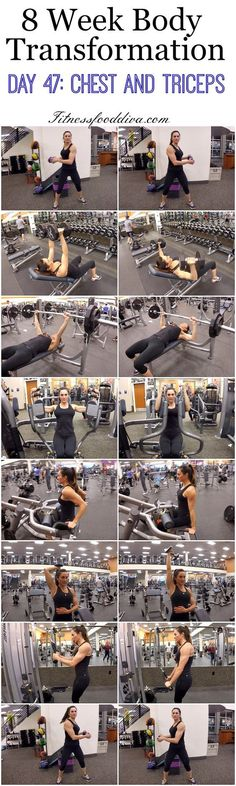 8 Week Body Transformation: Day 47 CHEST and TRICEPS.