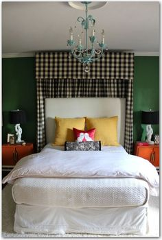 From the Painted House blog... I have this wall color in my dining room and need to figure out the drapes....maybe buffalo checks!