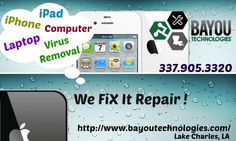 Want a quick Lake Charles iphone repair store? Just give us a call 337.214.1172 or send us a message and we'll be sure to help you with your technology issues.