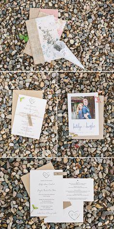 pretty + rustic wedding invites and paper