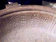 Bowl found near Puma Punku, Peru, Andes. (The writing is a form of pre-Sumerian Cuniform, and predates the Sumerian Culture by 1000 years, and the Middle East is halfway around the world from Peru, how did it get there?
