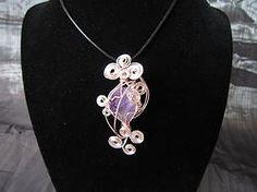 Amethyst Divination wire wrap pendant