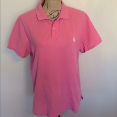 Ralph Lauren classic fit polo salmon w/white horse 🎉 Gently used                                                 🎉 Please ask for additional pictures, measurements, or ask questions before purchase. 🎉 No trades or other apps 🎉 Ships next business day, unless noted in my closet  🎉 Bundle for discount Ralph Lauren Tops Tees - Short Sleeve
