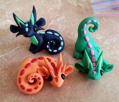 Polymer clay sculptures - Dragons & Beasties (1)  https://www.etsy.com/shop/DragonsAndBeasties?ref=si_shop (2) http://dragonsandbeasties.deviantart.com/