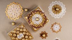 Use some boxes as an interesting table Cool Tables, Ferrero Rocher, Chocolate Ice Cream, Centre Pieces, Boxes, Party, Christmas, Xmas, Centerpieces