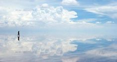 World's largest salt flat becomes one of the largest mirrors on Earth when covered with water - Salar de Uyuni, Bolivia