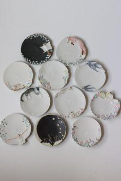 うつわや みたすの画像|エキサイトブログ (blog) Pottery Plates, Ceramic Pottery, Pottery Art, Ceramic Spoons, Ceramic Plates, Ceramic Painting, Ceramic Art, Cerámica Ideas, Clay Magnets