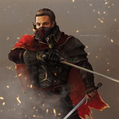 Shay By Sunsetagain (Assassin's Creed) Character Concept, Character Art, Character Design, Concept Art, D D Characters, Fantasy Characters, Assassin's Creed Black, Assassins Creed Rogue, Templer