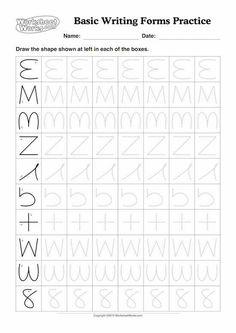 √ 8 Writing Exercises for Preschool 1st Grade Worksheets, School Worksheets, Alphabet Worksheets, Pre Writing, Kids Writing, Kindergarten Portfolio, Flashcards For Kids, Preschool Writing, Writing Exercises