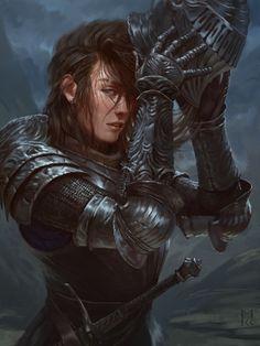 Lady Knight, Manuel Castanon on ArtStation at https://www.artstation.com/artwork/n865K