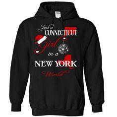 I Love V7-CONNECTICUT-NEWYORK girl Shirts & Tees