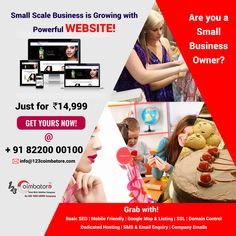 Small Scale Business is Growing with Powerful WEBSITE! Expose your business with Web Design Websites, Web Design Quotes, Website Design Services, Web Design Tips, Best Web Design, Web Design Company, Coimbatore, Showcase Design, Search Engine Optimization