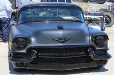 1956 Cadillac Blacked Out Custom Muscle Cars, Custom Cars, Cadillac, Rat Rod Cars, Hot Rods, Chevrolet Impala, 1957 Chevrolet, Chevrolet Trucks, Chevy