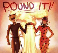 miraculous ladybug and chat noir Meraculous Ladybug, Ladybug Comics, Lady Bug, Mlb, Ladybug Und Cat Noir, Marinette Et Adrien, Foto Gif, Catty Noir, Fist Bump
